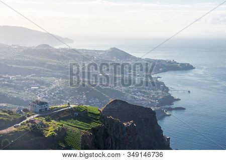 View Cabo Girao Funchal Coastline Of Madeira Portugal