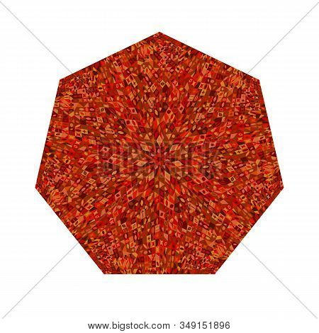 Abstract Colorful Isolated Mosaic Heptagon Polygon - Geometrical Ornamental Vector Element From Geom