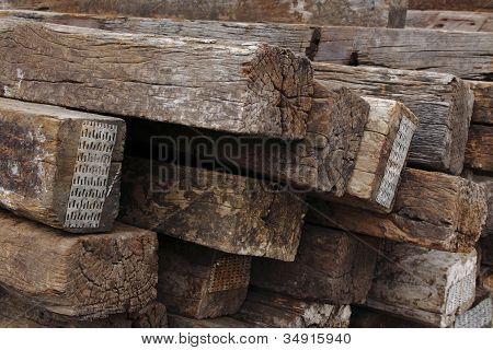 old wooden sleeper