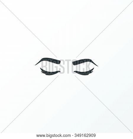 Eyebrows Icon Symbol. Premium Quality Isolated Eyelid Element In Trendy Style.
