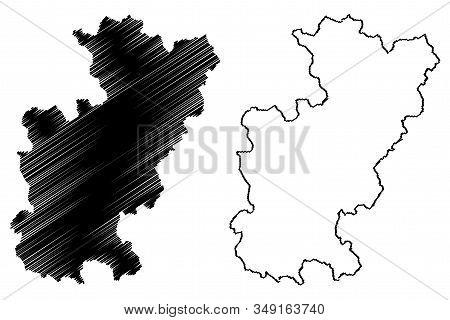 District Of Gjilan (republic Of Kosovo And Metohija, Districts Of Kosovo, Republic Of Serbia) Map Ve