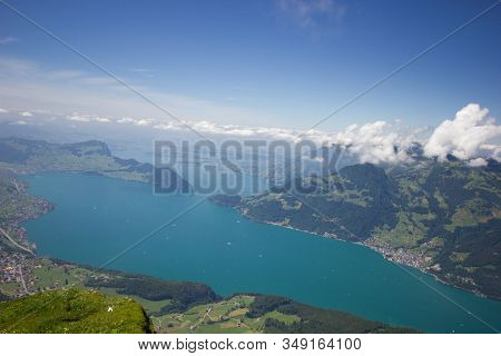 Lake Lucerne In Switzerland On A Sunny Day