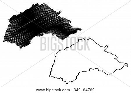Jablanica District (republic Of Serbia, Districts In Southern And Eastern Serbia) Map Vector Illustr
