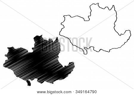 Kolubara District (republic Of Serbia, Districts In Sumadija And Western Serbia) Map Vector Illustra