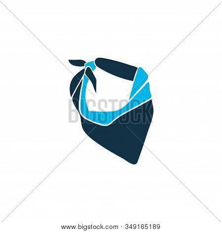 Bandanna Icon Colored Symbol. Premium Quality Isolated Neckerchief Element In Trendy Style.