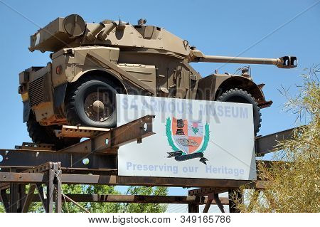 Bloemfontein, South Africa - November 1, 2008: An Eland Mk 7-60 Armoured Vehicle At The South Africa