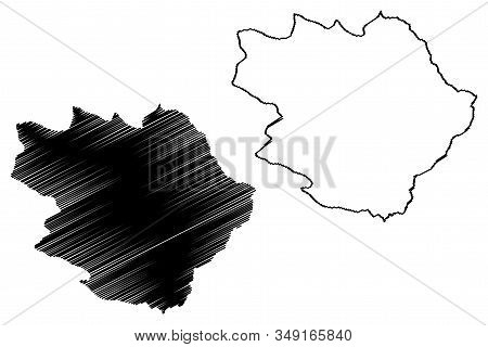Pirot District (republic Of Serbia, Districts In Southern And Eastern Serbia) Map Vector Illustratio