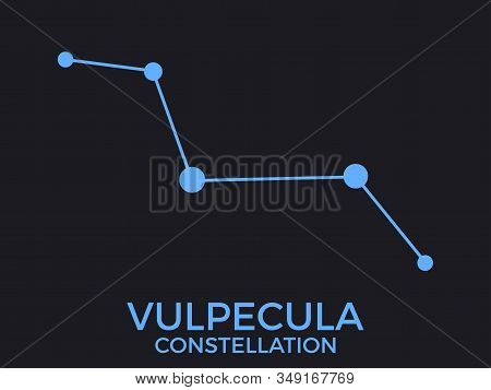 Vulpecula Constellation. Stars In The Night Sky. Cluster Of Stars And Galaxies. Constellation Of Blu