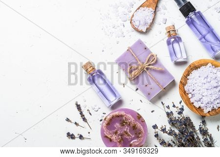 Lavender Cosmetics - Natural Lavender Soap Bars With Essential Oil, Sea Salt And Tonic. Aromatherapy