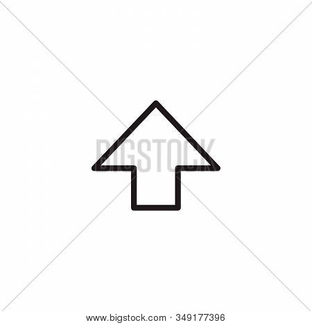 Shift Key Function Arrow, Stock Vector Illustration Isolated On White Background.