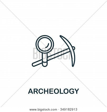 Archeology Icon From Science Collection. Simple Line Element Archeology Symbol For Templates, Web De