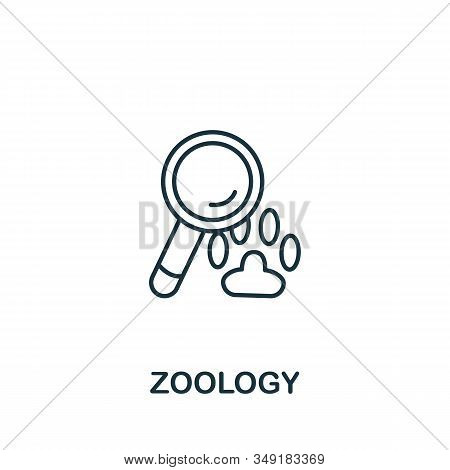 Zoology Icon From Science Collection. Simple Line Element Zoology Symbol For Templates, Web Design A