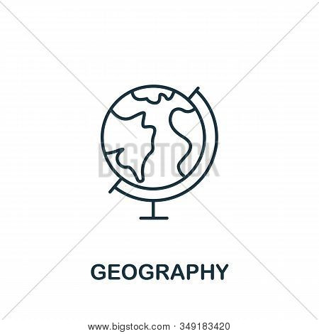 Geography Icon From Science Collection. Simple Line Element Geography Symbol For Templates, Web Desi