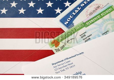 United States Permanent Resident Green Card From Dv-lottery With Social Security Number Lies With Us