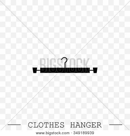 Clothes Hanger Black Icon Vector. Icon Of Hanger For Clothes.