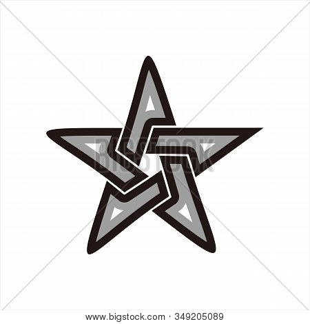 Star Icons, Star Image Icons, Black And Silver Line Star Icons, Eps10 Star Icons, Flat Star Icons, S