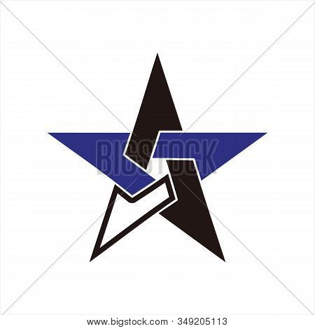 Star Icons, Star Image Icons, Black And Blue White Star Icons, Eps10 Star Icons, Flat Star Icons, St