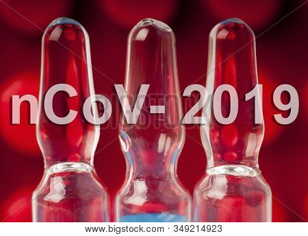 Vials With The Vaccine Large Background Coronavirus