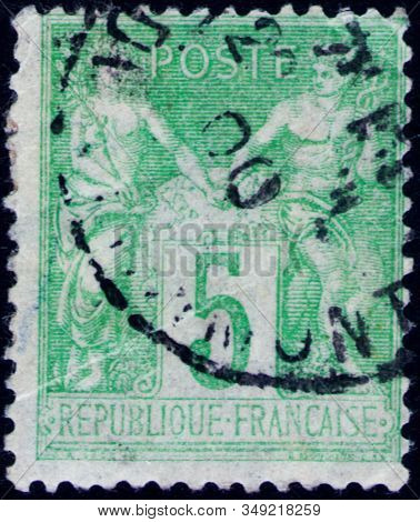 Saint Petersburg, Russia - February 01, 2020: Postage Stamp Issued In The France With The Image Of T