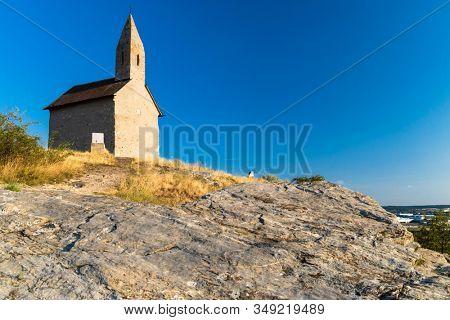 Stone church of Drazovce near Nitra, Slovakia, Europe