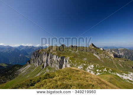 View From An Alp In Summer On A Cloudless Day