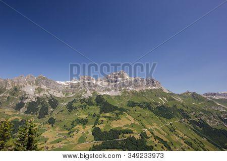 Schaechental In Central Switzerland On A Sunny Day