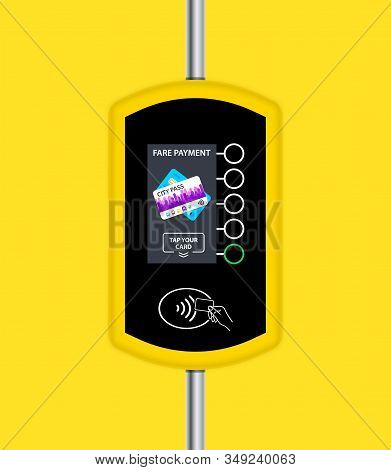 Fare Payment. Card Ticket Validation Scanning Display. Wireless Contactless Cashless Payments. Valid