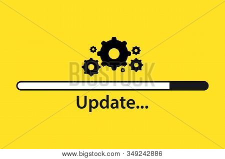 Software Update. Loading Process. Upgrade Concept. Vector Illustration In Flat Style. Upgrade Update
