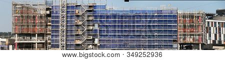 Gosford, New South Wales, Australia - Febuary 1, 2020: Construction Work Progress On The New Hospita