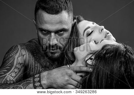 Dominantning In The Foreplay Sexual Game. Man Playing Domination Games. Concept Of Sensual And Intim