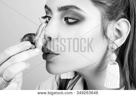 Cosmetology Beauty Procedure. Skin Care. Massage With Snail. Skincare Repairing. Healing Mucus. Havi