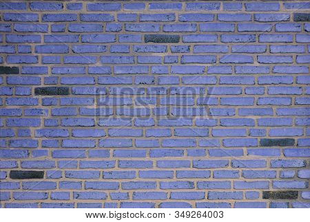 Grunge Violet Mansory Brick Wall Background And Texture