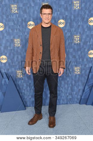 LOS ANGELES - JAN 08:  Nathan Fillion arrives for the ABC Winter TCA Party 2020 on January 08, 2020 in Pasadena, CA