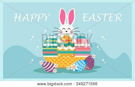 Happy Easter Day Design Background Vector Illustration