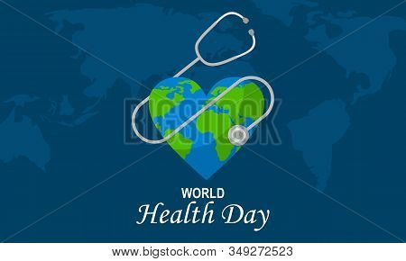 Happy World Health Day Flat Design Illustration