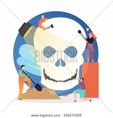 Archaeological Excavations Vector Concept For Web Banner, Website Page
