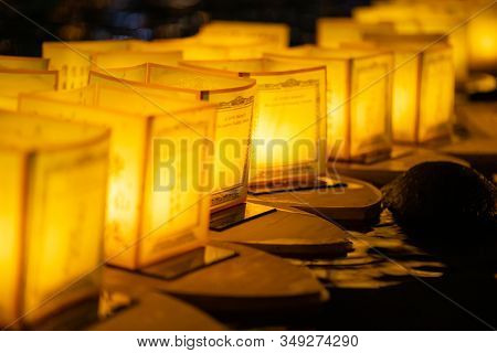 The Floating Lamp Is A Type Of Lamp That Floats On The Surface Of The Water. ( River Lamp Or Lake La
