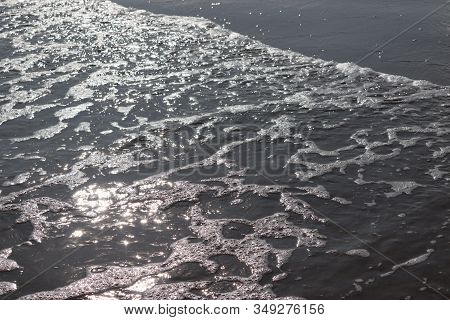 Close Up View Of Indian Ocean Beach Or Sea In Sunlight Showing With Indian Beach Coastline , Seascap