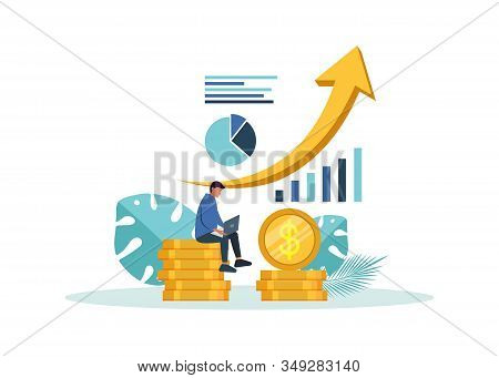 Business concept. Business people. Business background. Infographic business arrow shape template design. Business background, business concept. business banner. Building to success concept vector illustration graphic or web design layout.