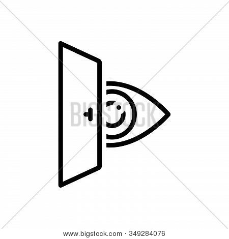 Black Line Icon For Eye-looking Vision See View Look Sight Watch Eyesight Peep Eyeball Optical Human