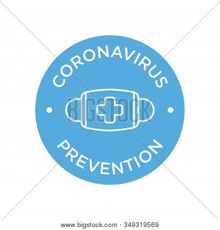 Coronavirus Prevention Mask Icon Illustration. Mers-cov (middle East Respiratory Coronavirus Syndrom