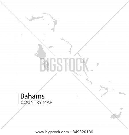 Bahams Vector Map. Nassau Caribbean Island Country. Bahama Map Illustration