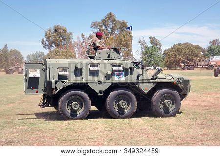 Bloemfontein, South Africa - November 1, 2008: A Saracen Mk 3 Armoured Personnel Carrier At An Open