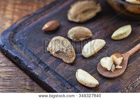 Brazil Nut, Shelled And Shelled. Ingredient Of Brazilian Cuisine. Seed Of Castanheira Da Amazônia. S