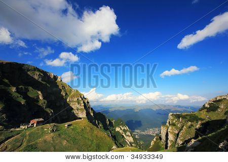 Alpine landscape in Bucegi Mountains, Romania, Europe poster