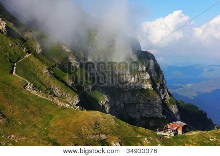 Alpine landscape in Bucegi Mountains, Romania, Europe
