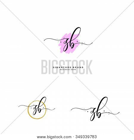 Z B Zb Initial Letter Handwriting And  Signature Logo. A Concept Handwriting Initial Logo With Templ