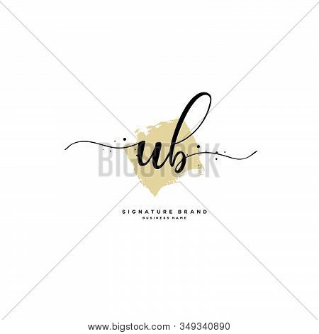U B Ub Initial Letter Handwriting And  Signature Logo. A Concept Handwriting Initial Logo With Templ