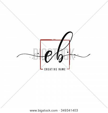E B Eb Initial Letter Handwriting And  Signature Logo. A Concept Handwriting Initial Logo With Templ