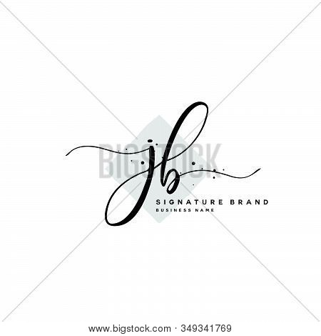 J B Jb Initial Letter Handwriting And  Signature Logo. A Concept Handwriting Initial Logo With Templ